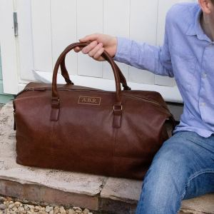 Leather Holdall Men's Travel Gift