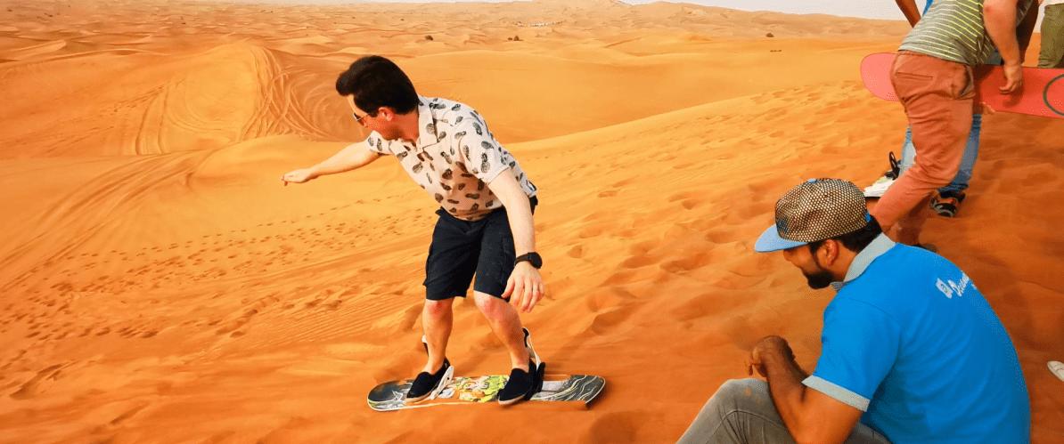 Scott sandboarding in Dubai
