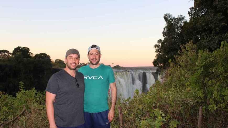 Derek & Mike at Victoria Falls