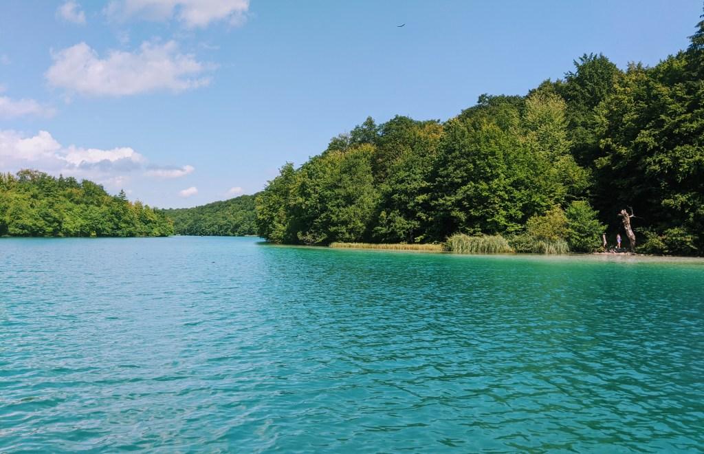 Views across Lake Kozjak at Plitvice Lakes