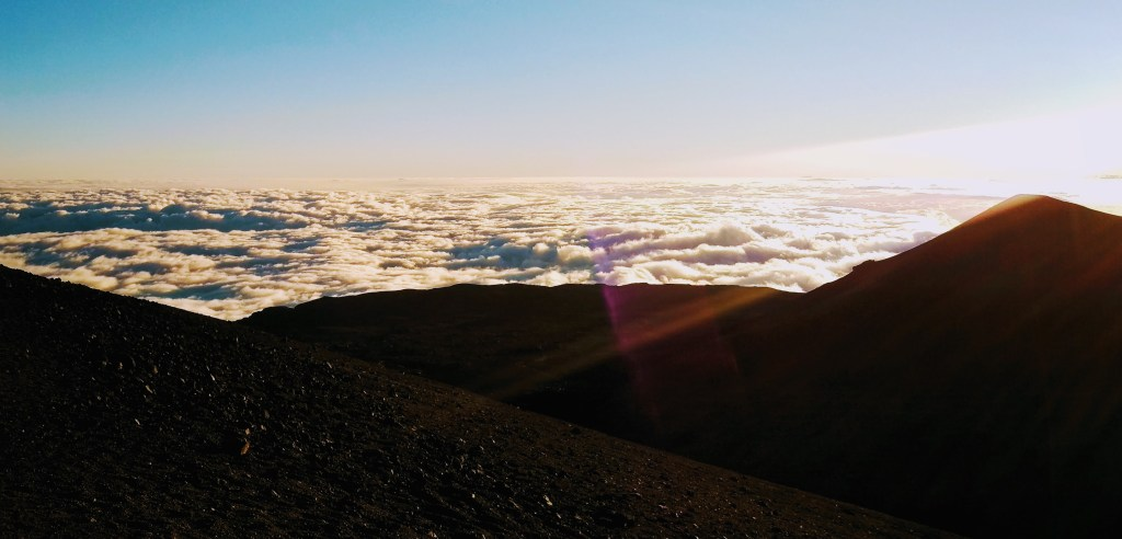 Above the clouds on Mauna Kea in Hawaii