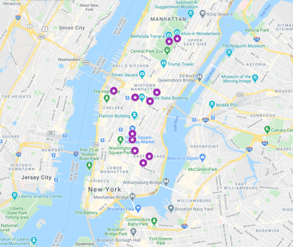 Dash & Lily Filming Locations Map