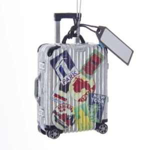 Travel Themed Christmas Ornaments - Suitcase Ornament