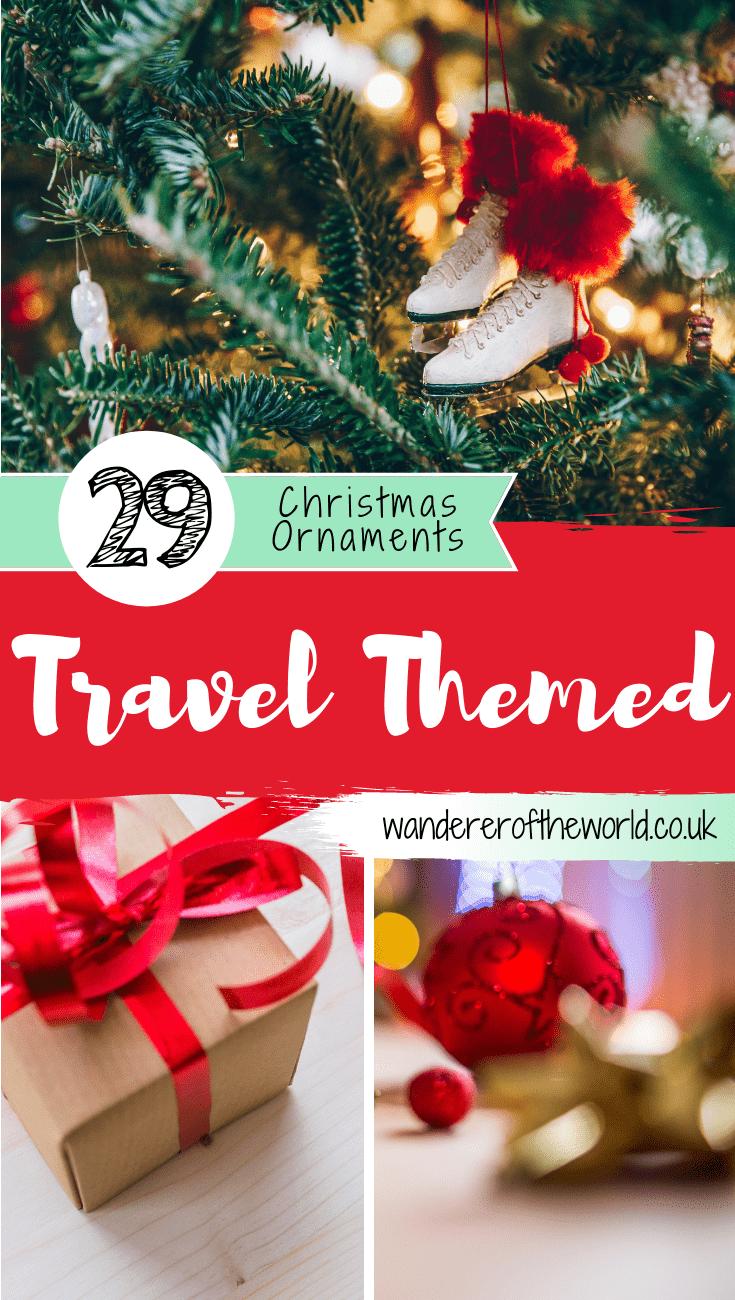 Travel Themed Christmas Ornaments