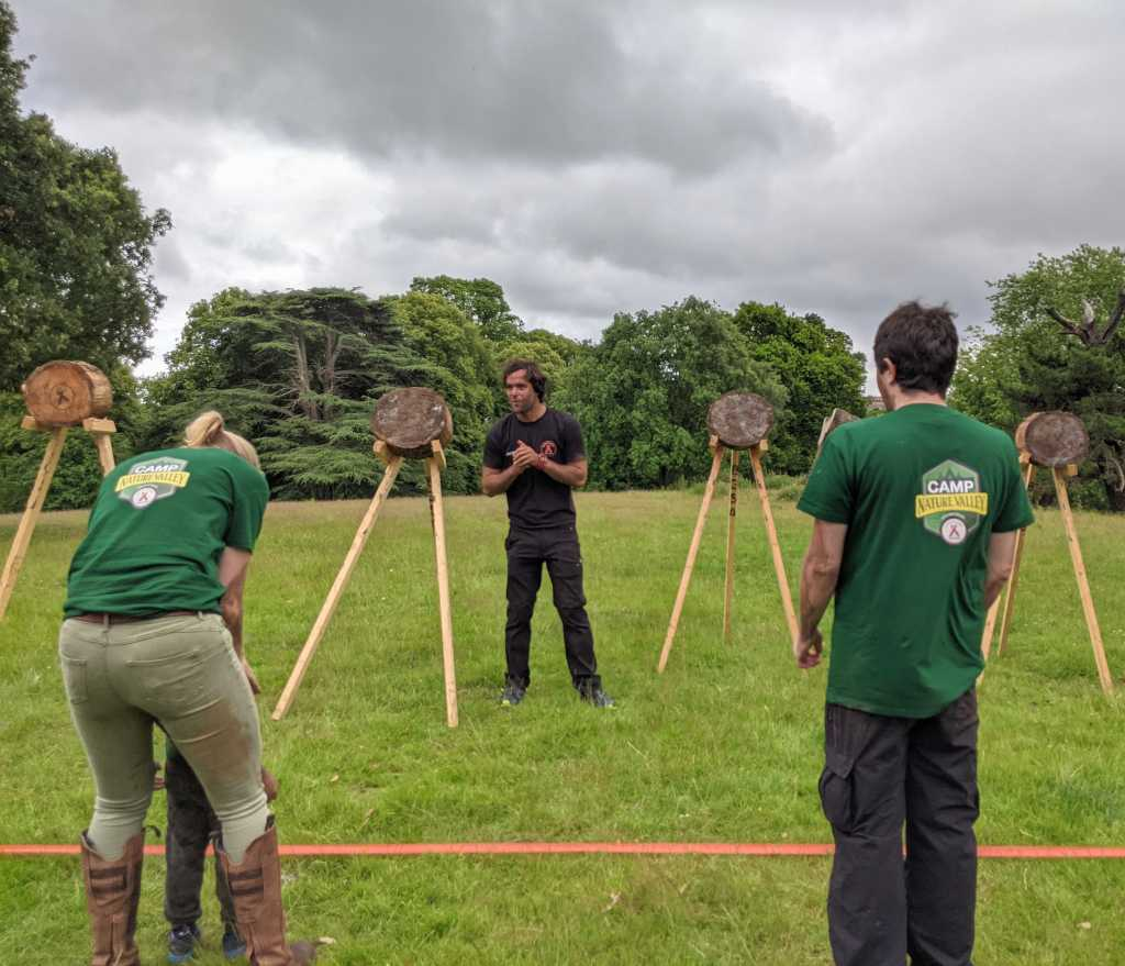 Axe throwing at Gone Wild Festival