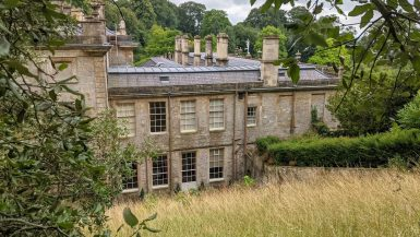 Dyrham Park house as seen from the Lost Terraces