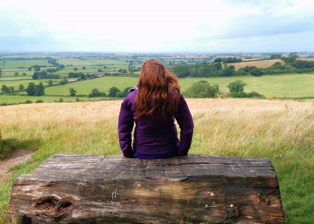 Justine admiring the views from Dyrham Park estate