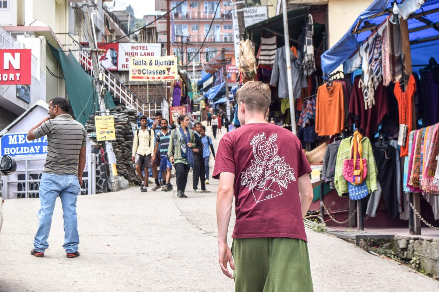 Wanderers & Warriors - Charlie & Lauren UK Travel Couple - Bhagsu Dharamshala Markets - Places To Visit in Dharamshala