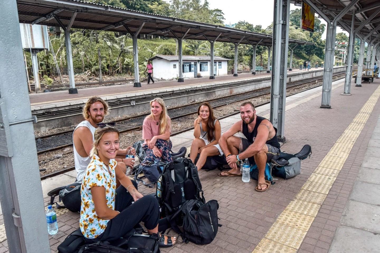 Wanderers & Warriors - Charlie & Lauren UK Travel Couple - Kandy To Ella Train Sri Lanka - Kandy Railway Station