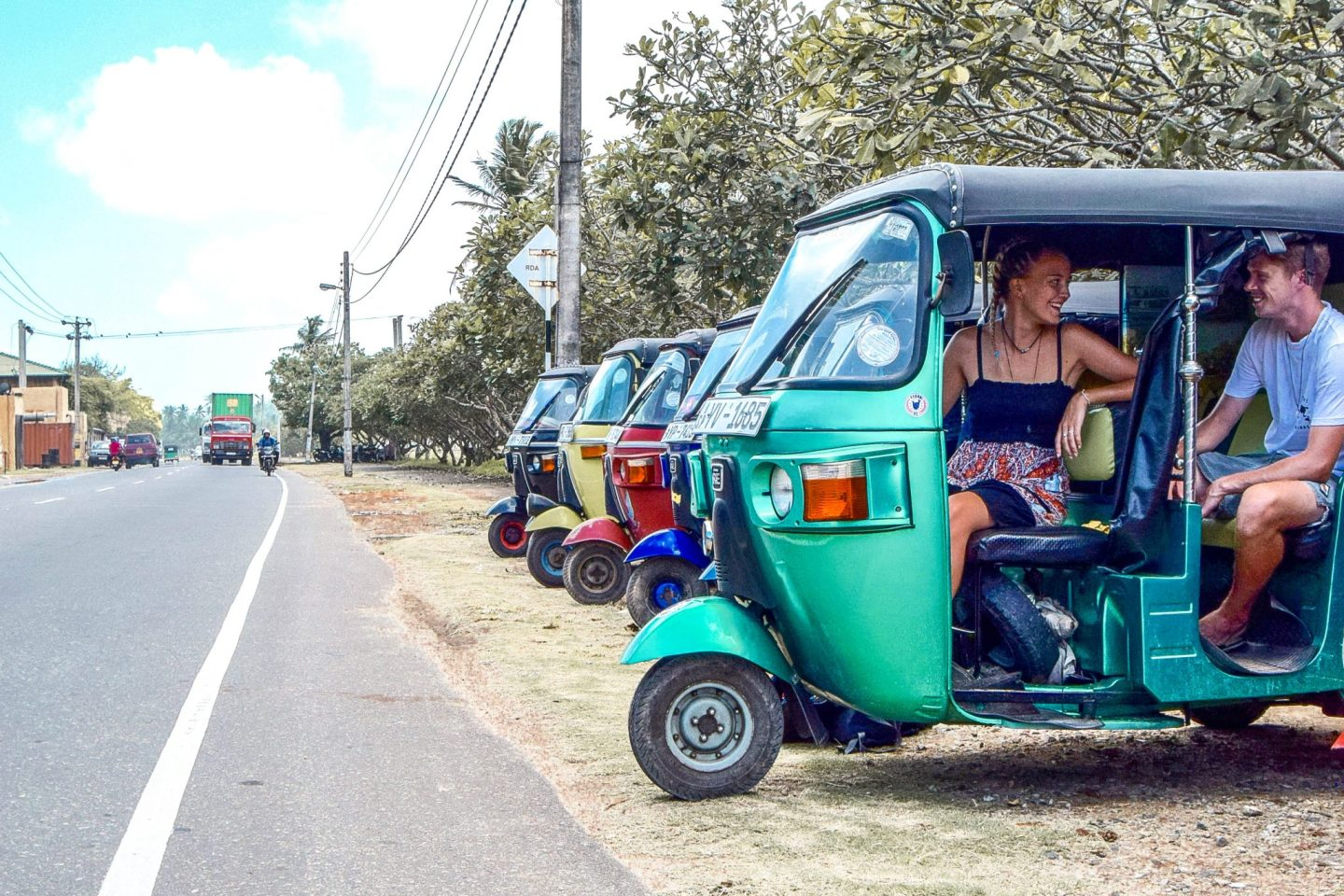Wanderers & Warriors - Charlie & Lauren UK Travel Couple - The Best Things To Do In Unawatuna - Sri Lankan Tuk Tuk
