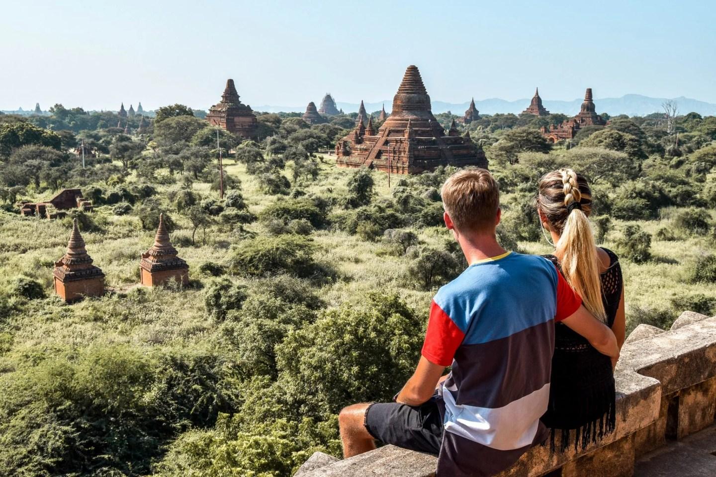Wanderers & Warriors - Charlie & Lauren UK Travel Couple - Bagan Temples - Best Pagodas For Sunrise & Sunset - Shwegugyi Pagoda Myanmar