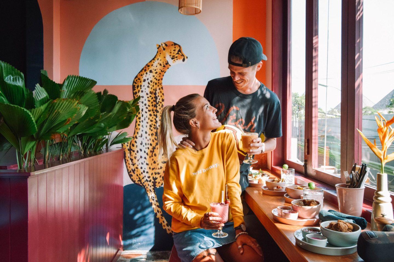 Wanderers & Warriors - Charlie & Lauren UK Travel Couple - Neon Palms Bali - Best Restaurants In Seminyak Restaurants