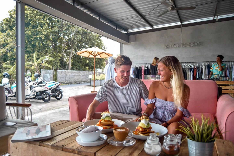 Wanderers & Warriors - Charlie & Lauren UK Travel Couple - The Crate Cafe Canggu - Best Restaurants In Bali Food - Best Restaurants In Canggu