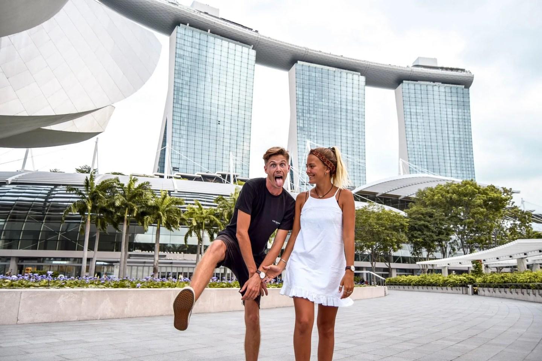 Wanderers & Warriors - Charlie & Lauren UK Travel Couple - Marina Bay Sands - 12 Best Things To Do In Marina Bay Singapore
