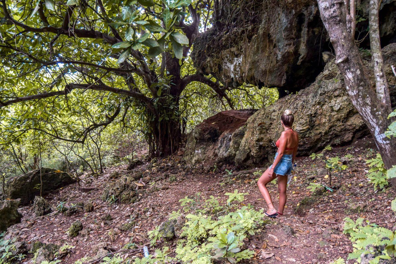 Wanderers & Warriors - Charlie & Lauren UK Travel Couple - The Walk Down To Shipwreck Nyang Nyang Beach Bali - Uluwatu Beaches