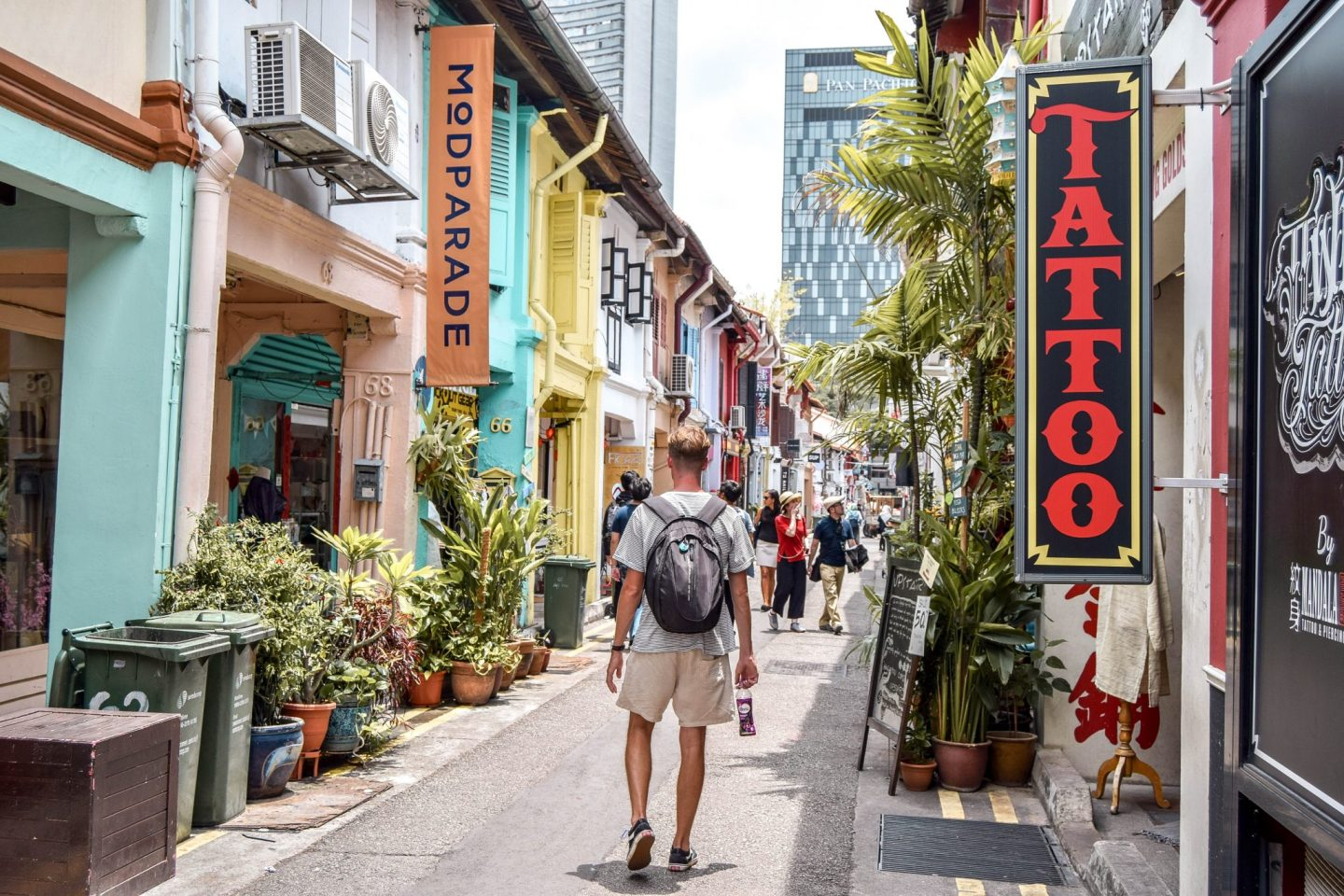 Wanderers & Warriors - Charlie & Lauren UK Travel Couple - Haji Lane - Best Things To Do In Singapore