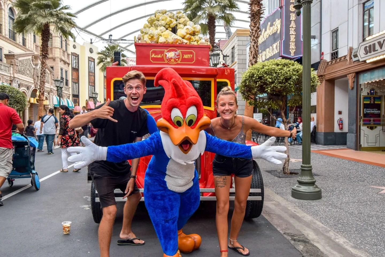 Wanderers & Warriors - Charlie & Lauren UK Travel Couple - Woody Woodpecker - Universal Studios Singapore - Best Rides & Guide