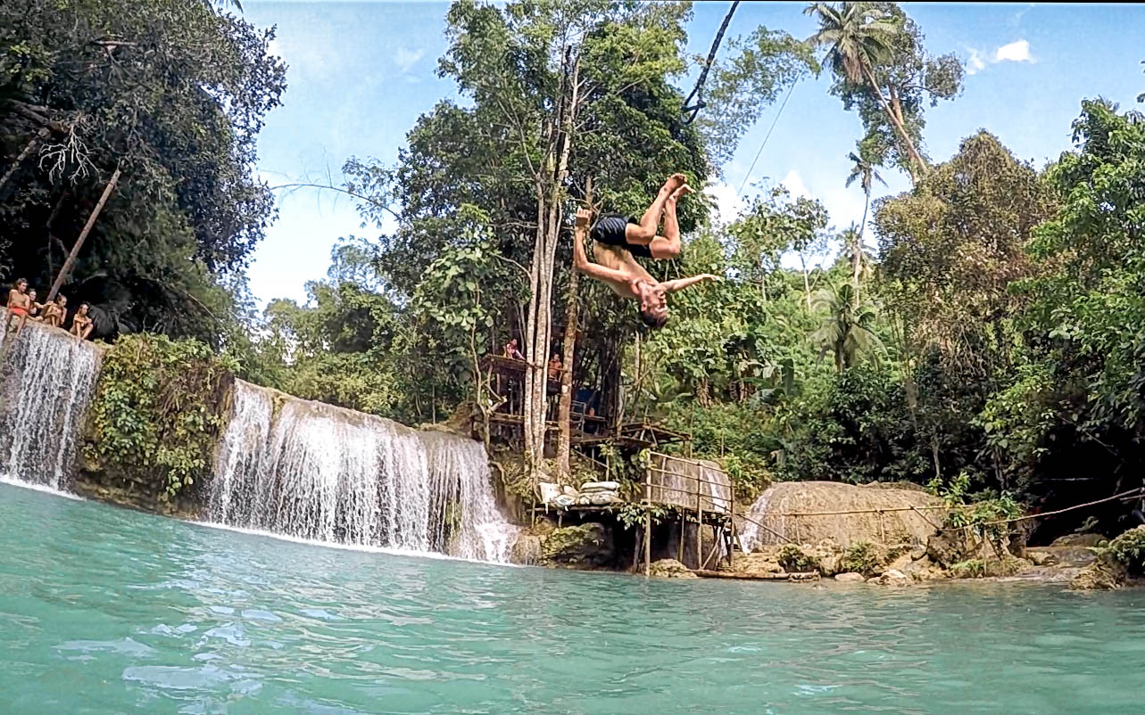 Wanderers & Warriors - Charlie & Lauren UK Travel Couple - The Best Philippines Waterfalls - Our Top 5 - Cambugahay Falls - Siquijor Waterfalls - Siquijor Tourist Spots