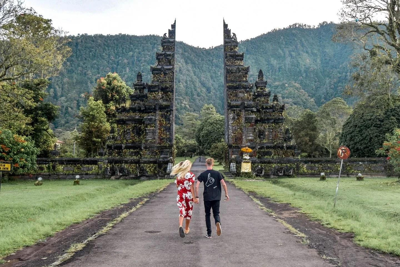 Wanderers & Warriors - Charlie & Lauren UK Travel Couple - The Famous Bali Gates - Handara Golf & Resort