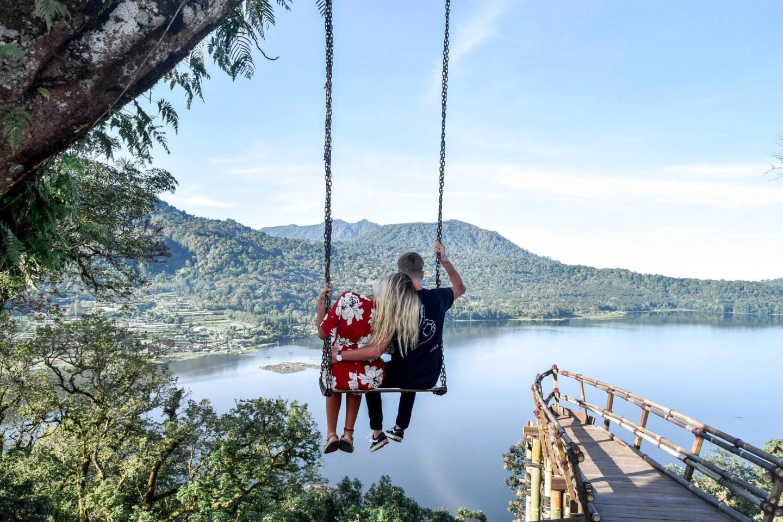Wanderers & Warriors - Charlie & Lauren UK Travel Couple - Wanagiri Hidden Hills Bali Swing