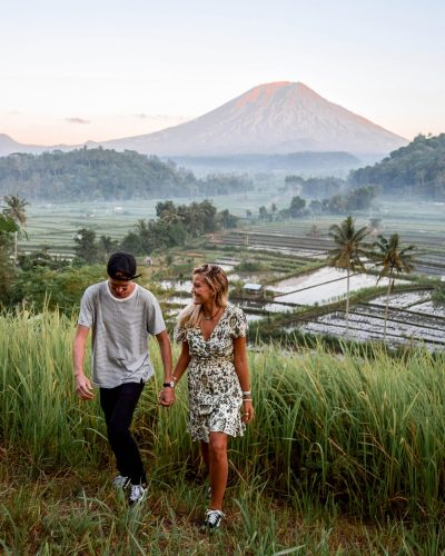 Wanderers & Warriors - Charlie & Lauren UK Travel Couple - Mount Agung Sunrise Viewpoint Bali - mount agung viewpoint - Bukit cinta - Bali sunrise spots