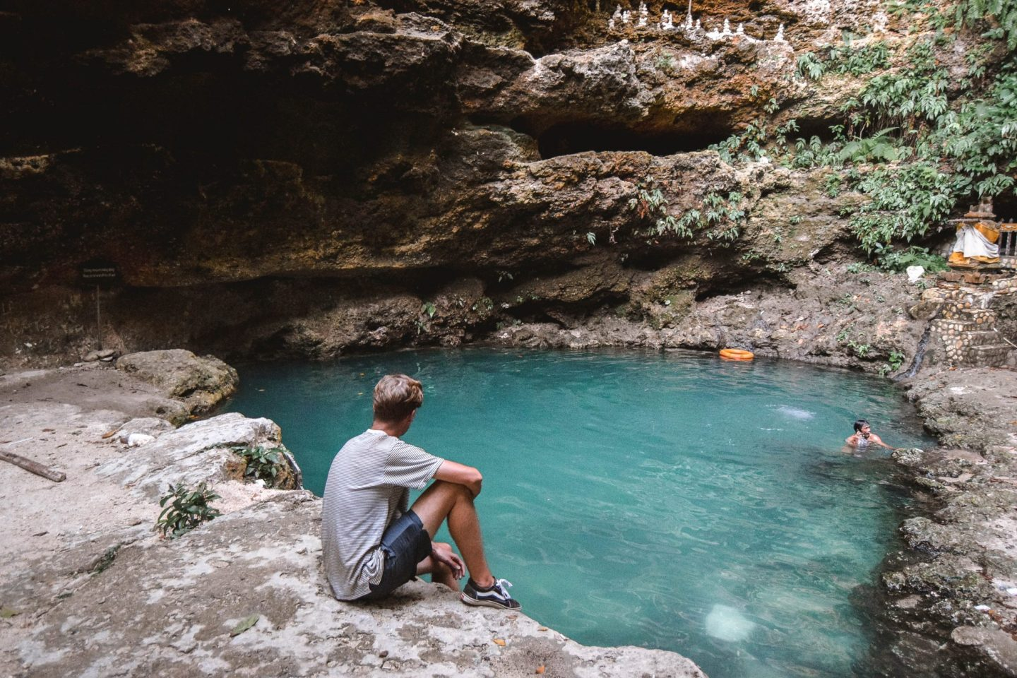 Wanderers & Warriors - Charlie & Lauren UK Travel Couple - Tembeling Natural Pool - Nusa Penida Bali - Tembeling Nusa Penida - Tembeling Natural Pool Nusa Penida - Tembelng Beach And Forest - Things To Do In Nusa Penida - Tembeling Beach Nusa Penida - Nusa Islands