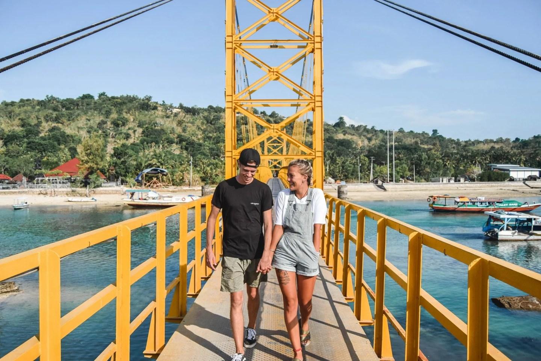 Wanderers & Warriors - Charlie & Lauren UK Travel Couple - The Yellow Bridge Nusa Lembongan To Ceningan - Yellow Bridge Lembongan Bali - Things To Do in Nusa Lembongan - things to do in nusa ceningan