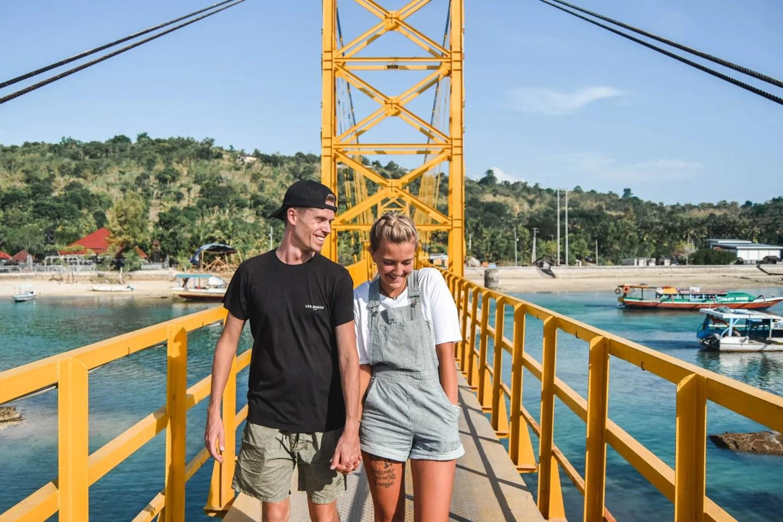 Wanderers & Warriors - Charlie & Lauren UK Travel Couple - The Yellow Bridge Nusa Lembongan To Cenengan - Yellow Bridge Lembongan Bali - Things To Do On Nusa Lembongan