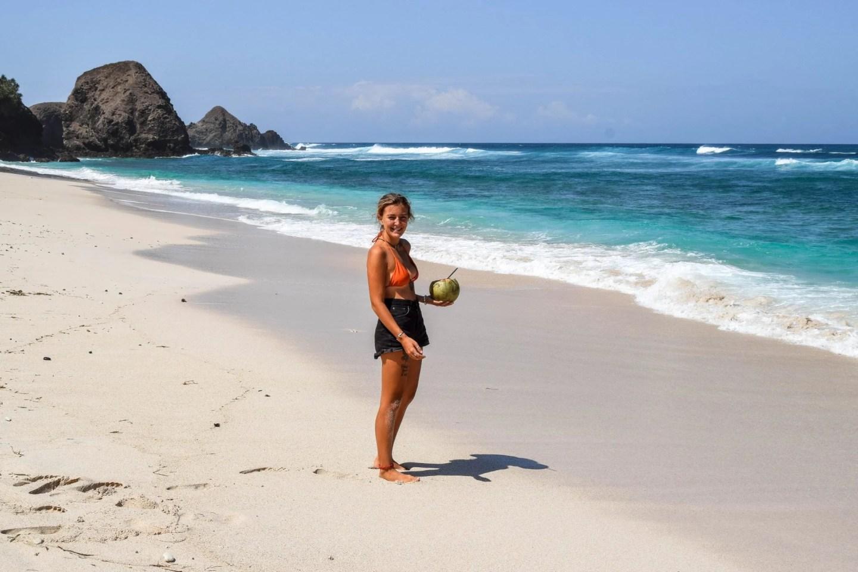 Wanderers & Warriors - Charlie & Lauren UK Travel Couple - Seger Beach Lombok - Pantai Seger Kuta Lombok Seger Beach Kuta Lombok - best beaches in lombok beaches