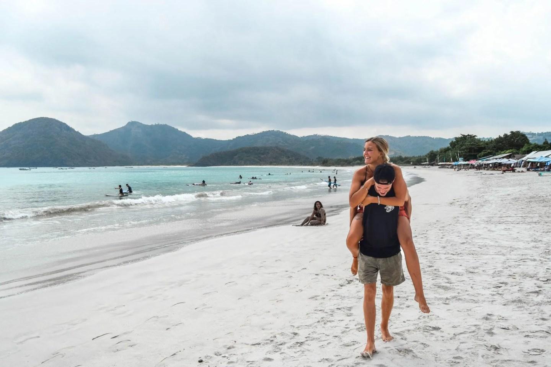 Wanderers & Warriors - Charlie & Lauren UK Travel Couple - Selong Belanak Beach Lombok Surfing - Learn To Surf In Lombok - - best beaches in lombok beaches