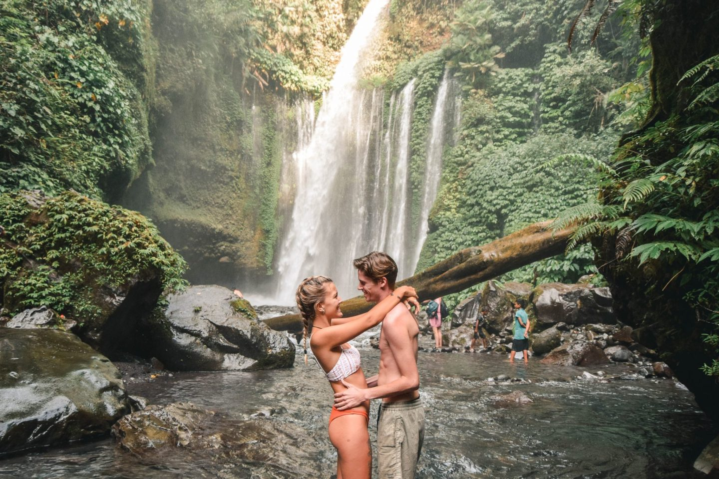 Wanderers & Warriors - Charlie & Lauren UK Travel Couple - Tiu Kelep Waterfall & Sendang Gile Waterfall