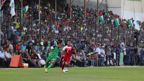 2015-08-06-gazas-shujaiyeh-united-soccer-club-plays-hebron_s-al-ahly-soccer-club-at-alyarmouk-stadium-in-gaza-city