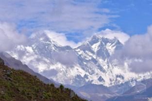 Mt Everest and Mt Lhotse