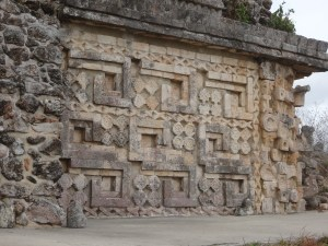 Facade on the Palace of the Governors. Uxmal