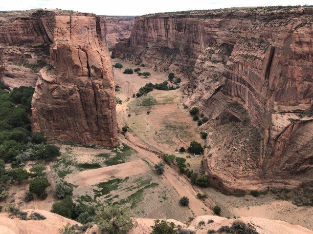 Farmlands on the bottom of Canyon de Chelly