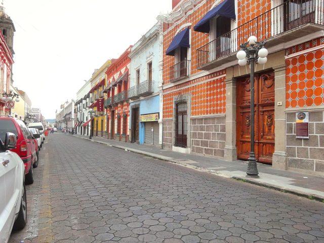 Puebla city center street