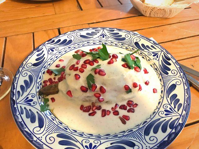 chiles en nogada in Puebla