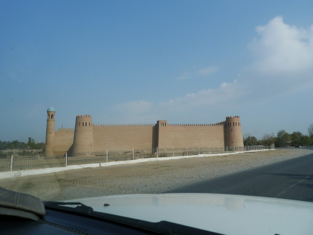 We passed this resored fort along the way.,