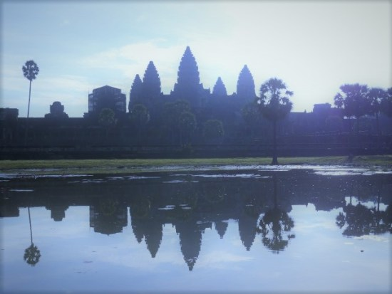 Angkor Wat - this the view that people get up stupidly early for. Imagine it with an orange sky and 500 people behind you (or more likely, in front!)