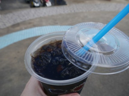mmm grass jelly drink? Tasted a bit like iced tea with bits of jelly in it!