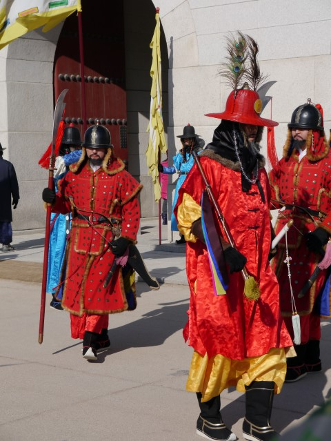 The ceremonial guards have a great look going on.