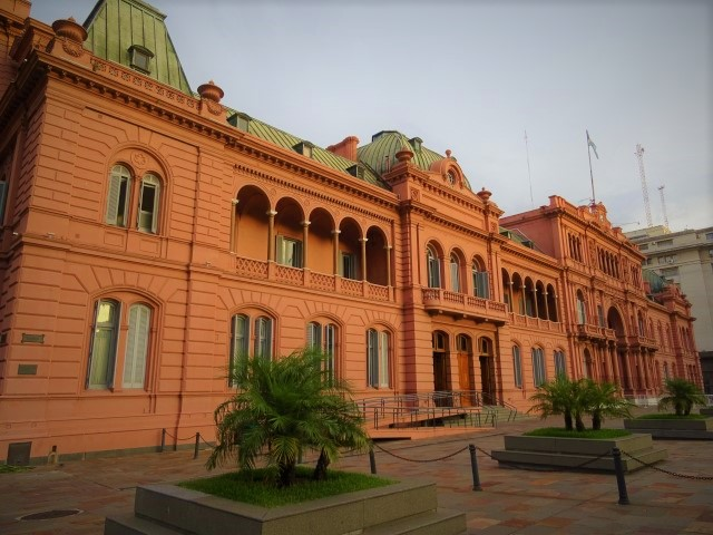 BA landmarks: the Casa Rosada (Pink House!)