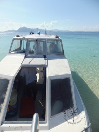 Our speedboat docking at Sibuan Island, Semporna Island Hopping
