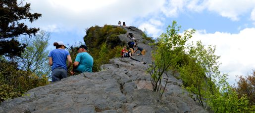 The final ascent of Chimney Tops