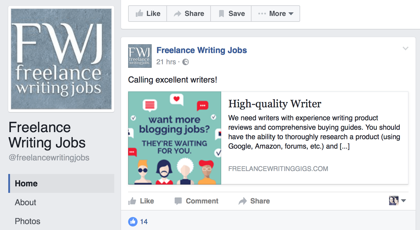 first freelance writing job