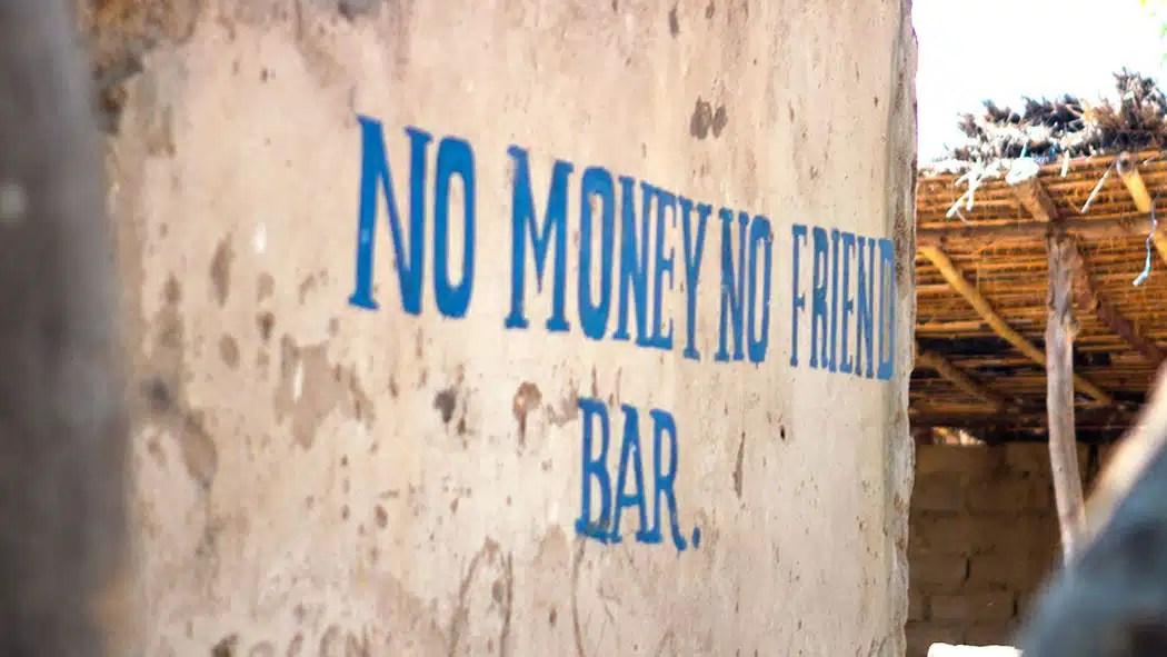 No Money No Friend Bar Likoma