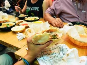 Packed full falafel