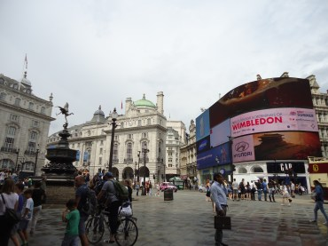 It felt weird to take a picture of adverts... at least the buildings were pretty...?
