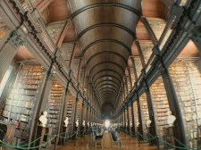 Long Hall in Trinity's library. #LibraryGoals