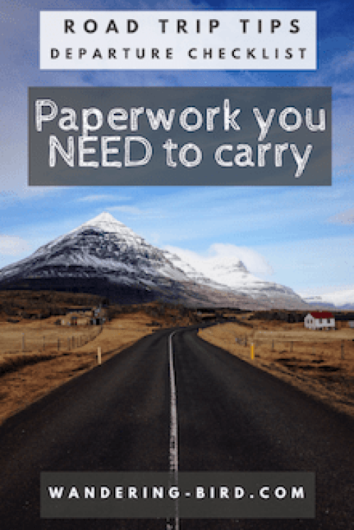 What Paperwork do you NEED to carry on your road trip? What are the necessary documents you must produce in Europe? Here's the list to help. #roadtrip #europe #paperwork #motorhome #travel